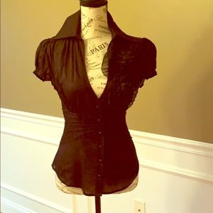 Black blouse shirt sleeve